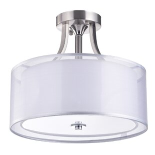 Gisselle 3-Light Semi Flush Mount by House of Hampton