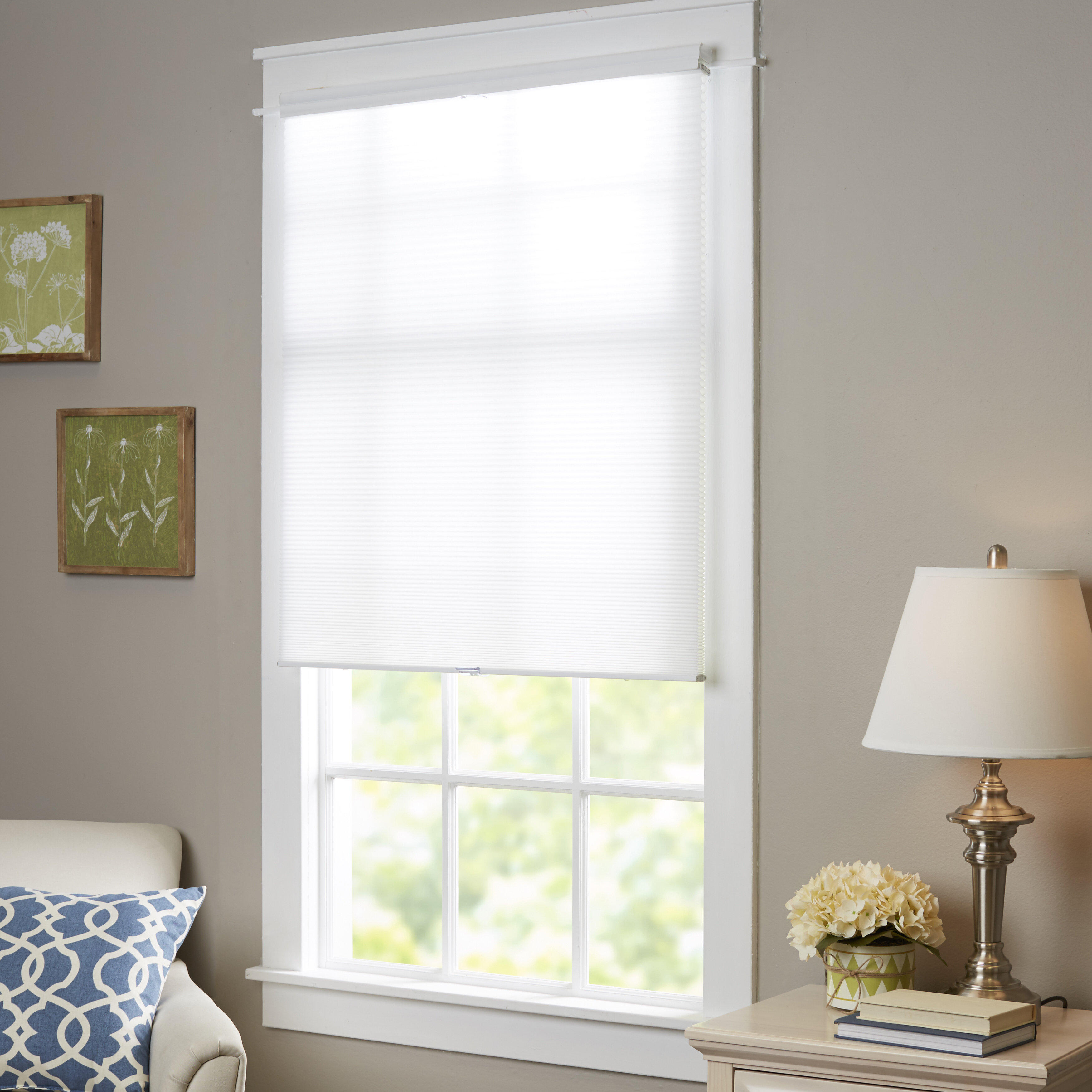 hyman window driftwood cordless shades roman raised blinds product inc bamboo new flattened