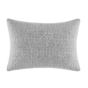 Bronwell Embroidered Cotton Lumbar Pillow