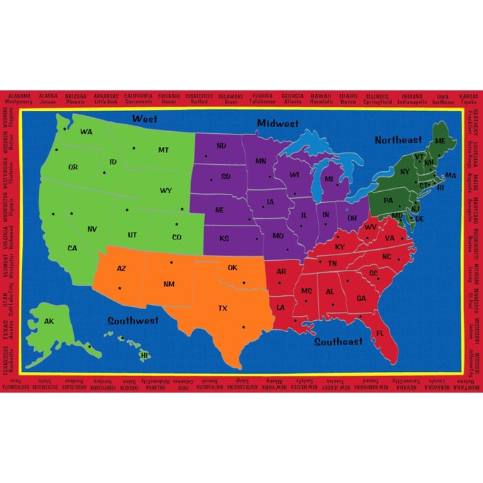 Comer The United States Of America Blue/Green/Orange Area Rug on map australia, map germany, map of north america, map russia, map iraq, map italy, new york, map new zealand, continents of america, usa map of america, map mexico, map bermuda, 1900 map of america, map of west indies caribbean islands, map canada, map china, united kingdom, north america, map panama, new york city, map taiwan, map costa rica, land bridge from asia to north america, map georgia,