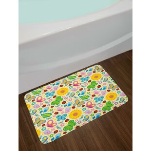 Spring Themed Nursery Bath Rug