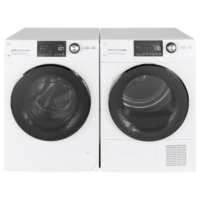 Ge Appliances 2 4 Cu Ft Front Load Washer And 4 3 Cu Ft Electric Dryer Reviews Wayfair
