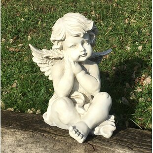 Shery Sitting Cherub Hands On Chin By Sol 72 Outdoor