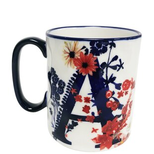 Erwin Floral 'A' Initial Coffee Mug