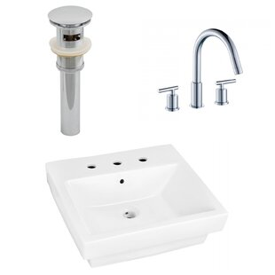 Searching for Ceramic Rectangular Bathroom Sink with Faucet and Overflow ByRoyal Purple Bath Kitchen