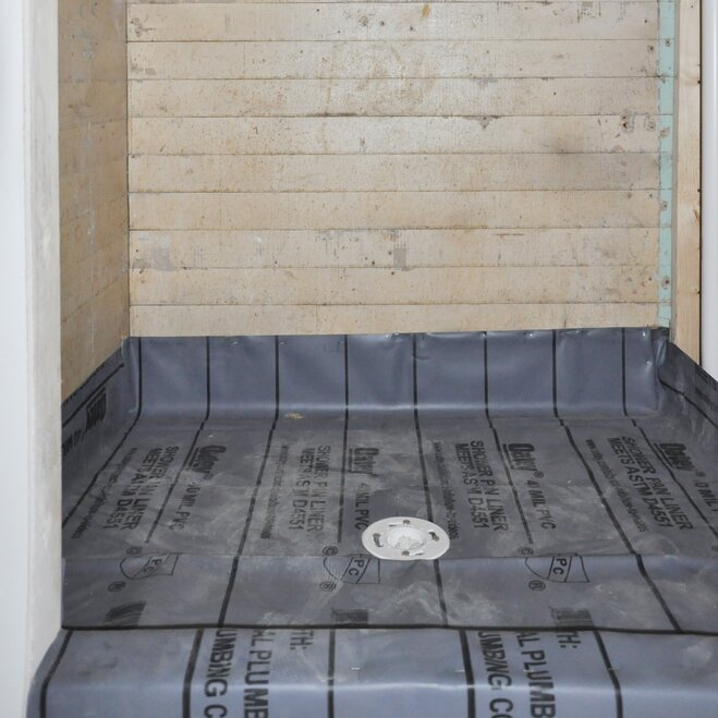 Step 6: Install Shower Pan (Membrane) Liner