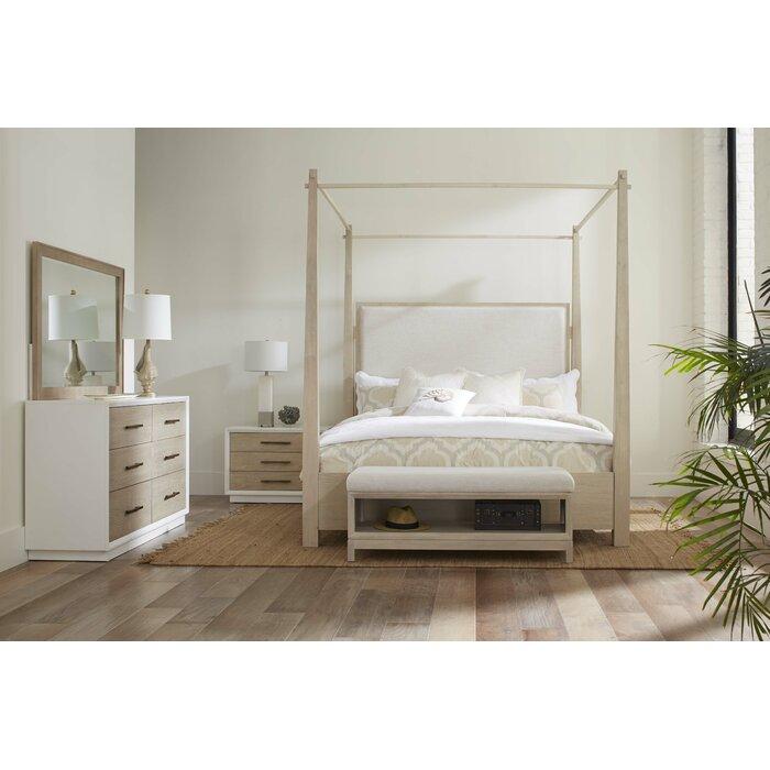 Boca Grande Upholstered King Canopy Configurable Bedroom Set