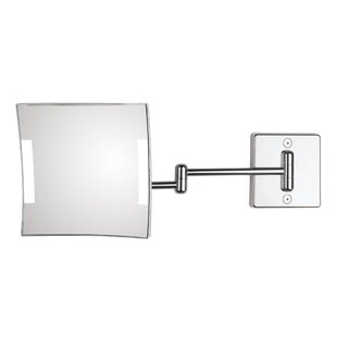 WS Bath Collections Quadrolo 2-Arm Hard Wired LED Magnifying Mirror