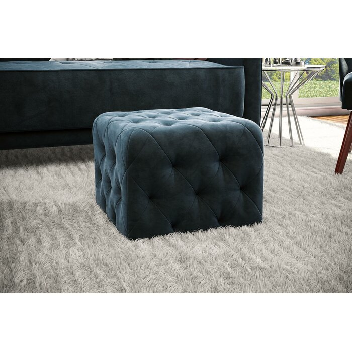 Peachy Tufted Cube Ottoman Gmtry Best Dining Table And Chair Ideas Images Gmtryco