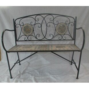 Turin Wrought Iron Bench By Sol 72 Outdoor