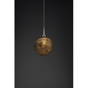 Spilsby 1-Light Globe Pendant by World Menagerie