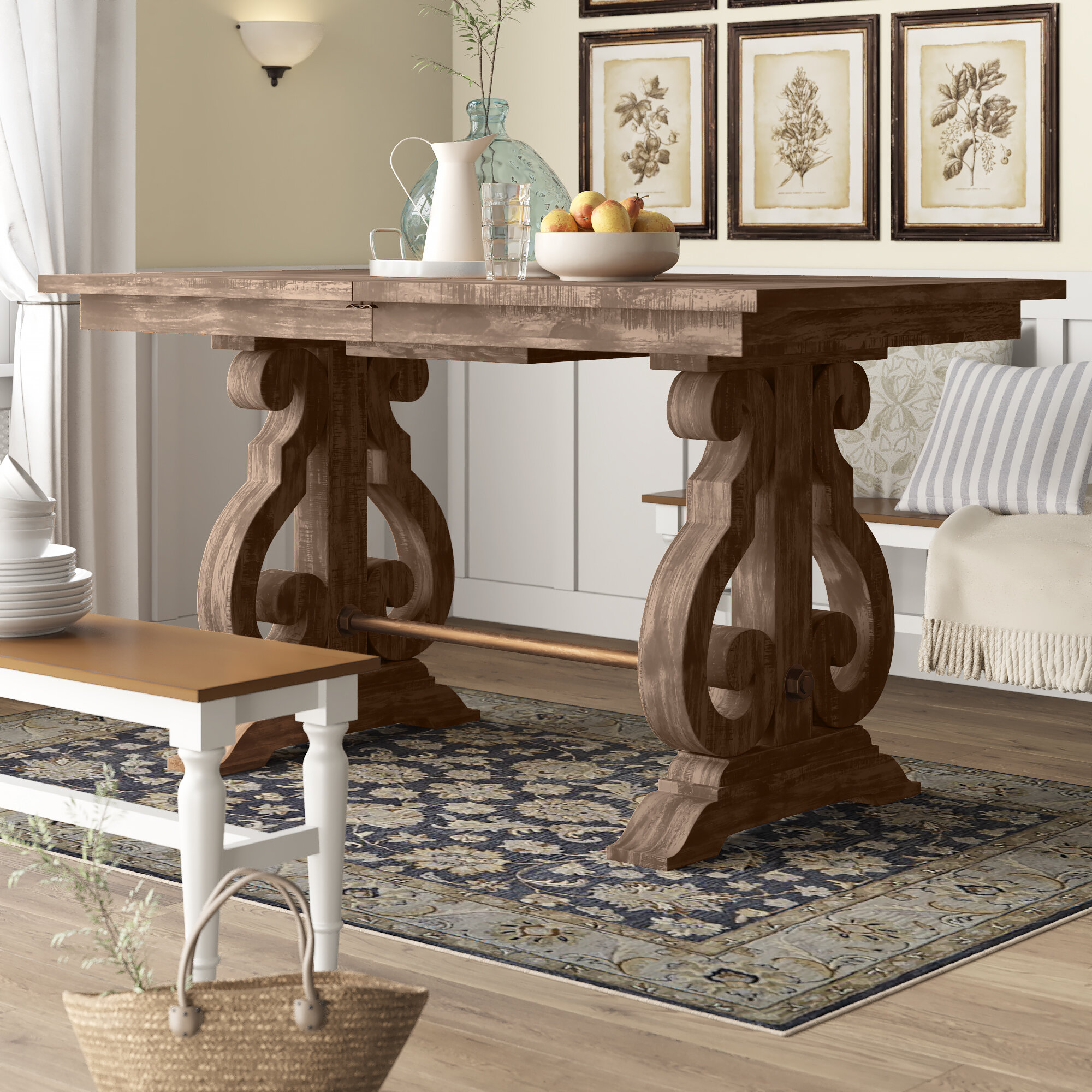 Picture of: Birch Lane Findley Counter Height Extendable Dining Table Reviews Wayfair
