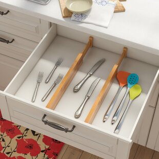 Kitchen drawer organizers youll love wayfair drawer organize set set of 2 workwithnaturefo