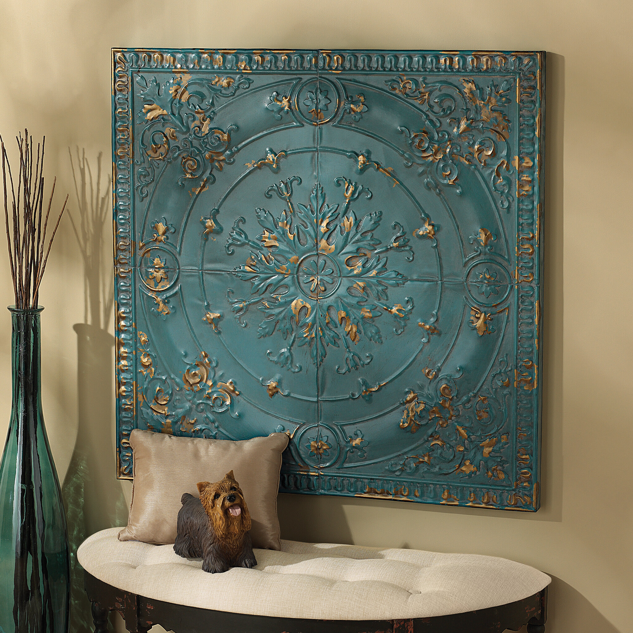 Design toscano viennese pressed metal ceiling tile wall dcor design toscano viennese pressed metal ceiling tile wall dcor reviews wayfair dailygadgetfo Choice Image