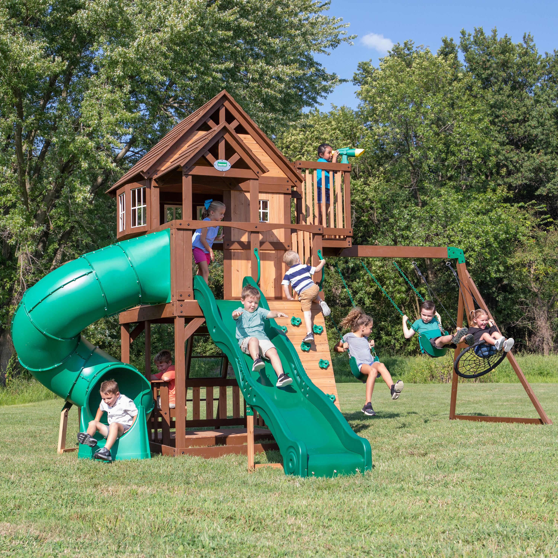 Backyard Discovery Skyfort Swing Set Reviews Wayfair