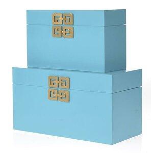 2-tlg. Aufbewahrungsboxen-Set von Inart