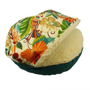 Orthopedic Pool and Patio Cozy Cave Jungle Dog Bed