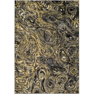 Affordable Price Callisto Yellow/Charcoal Area Rug By Wade Logan
