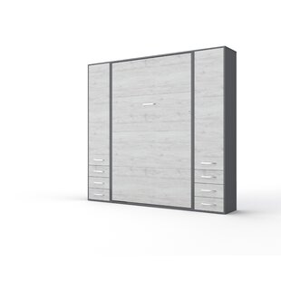 Wharton Vertical Wall FullDouble Storage Murphy Bed with Mattress by Latitude Run