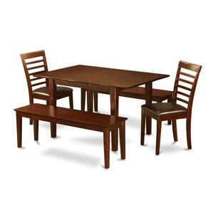 Milan 5 Piece Dining Set by East West Furniture