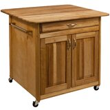 Pantela Kitchen Island with Butcher Block Top by Winston Porter