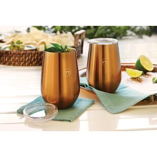 Padmore Double Wall 12 oz. Stainless Steel Drink Tumbler (Set of 2)