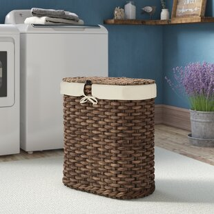 Cool laundry baskets Utility Room Laundry Wicker Oval Double Laundry Hamper Wayfaircom Laundry Baskets Hampers Youll Love Wayfair