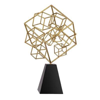 Brayden Studio Cubic Abstract Sculpture