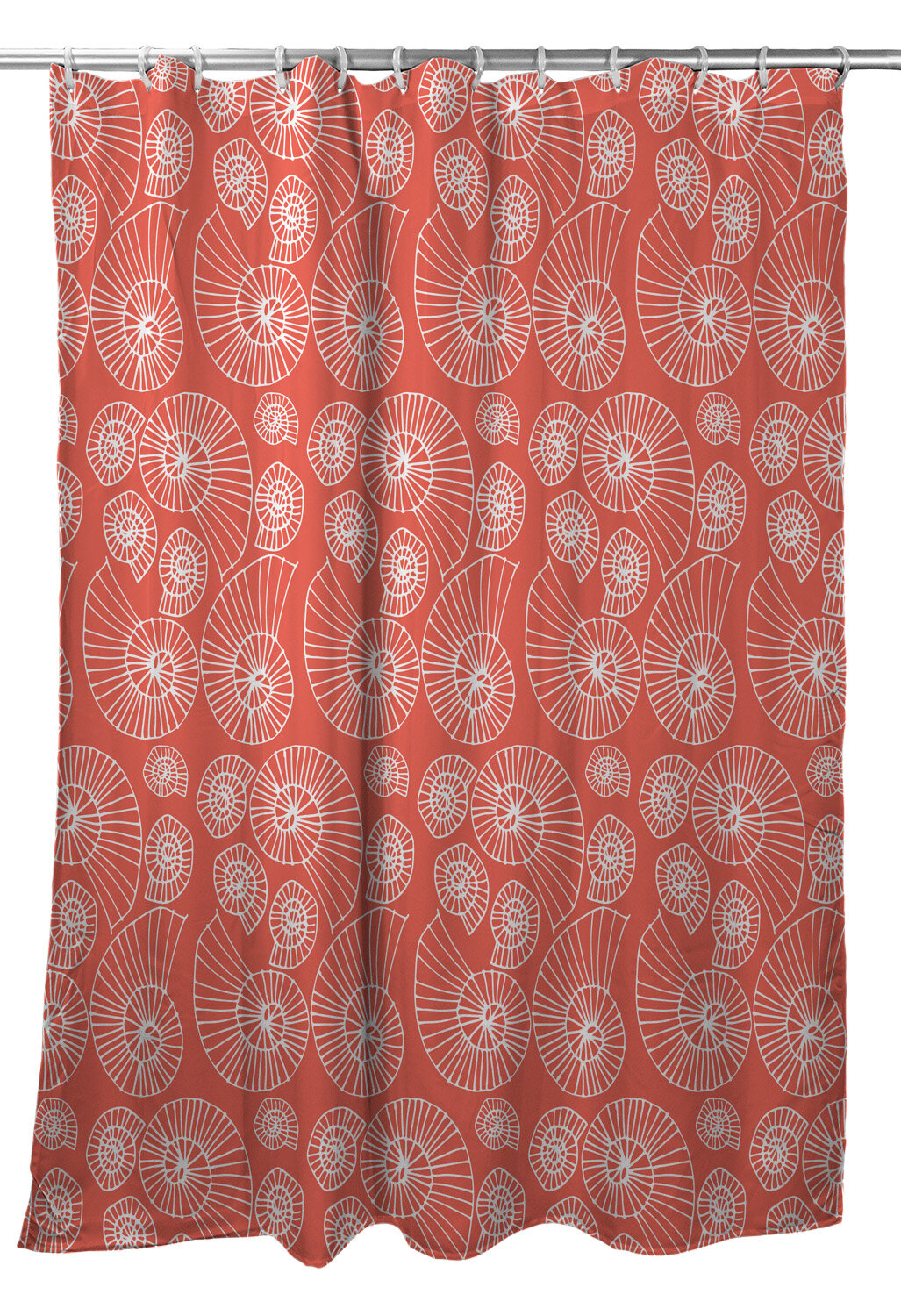 Highland Dunes Corinne Nautilus Outline Single Shower Curtain Wayfair