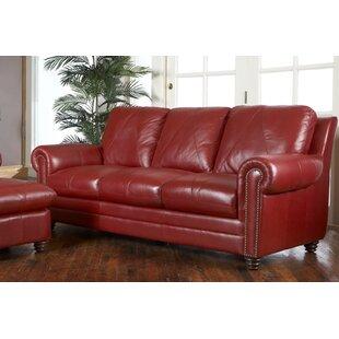 Barnstormer Leather Sofa. By Red Barrel Studio