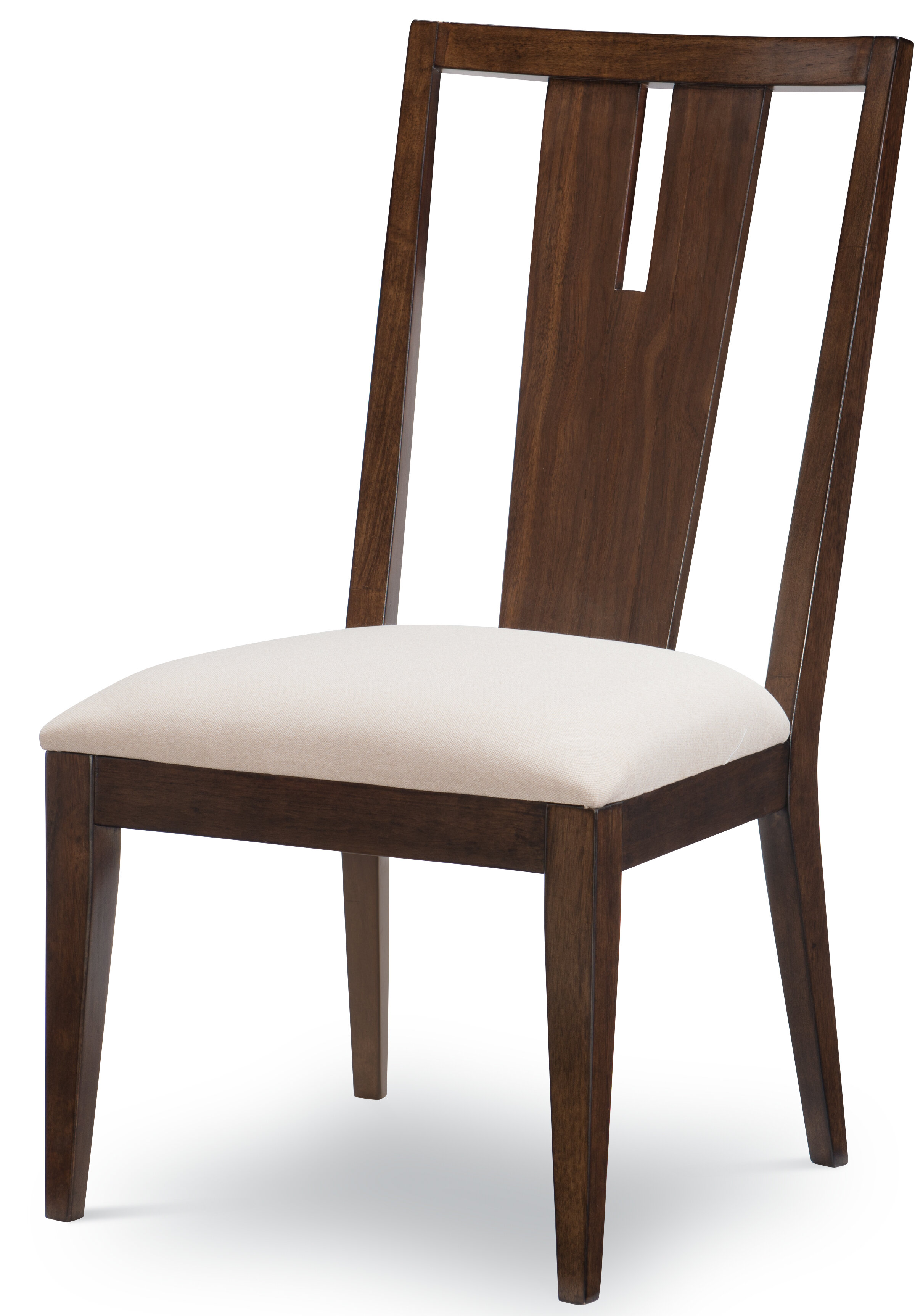 Three Posts Agosto Upholstered Slat Back Side Dining Chair In Sable Ivory Wayfair