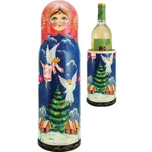 Russia Angels 1 Bottle Tabletop Wine Rack by G Debrekht