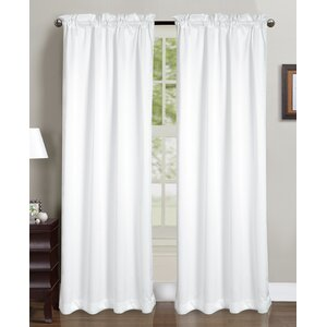 Beth Solid Semi-Sheer Rod Pocket Curtain Panels (Set of 2)
