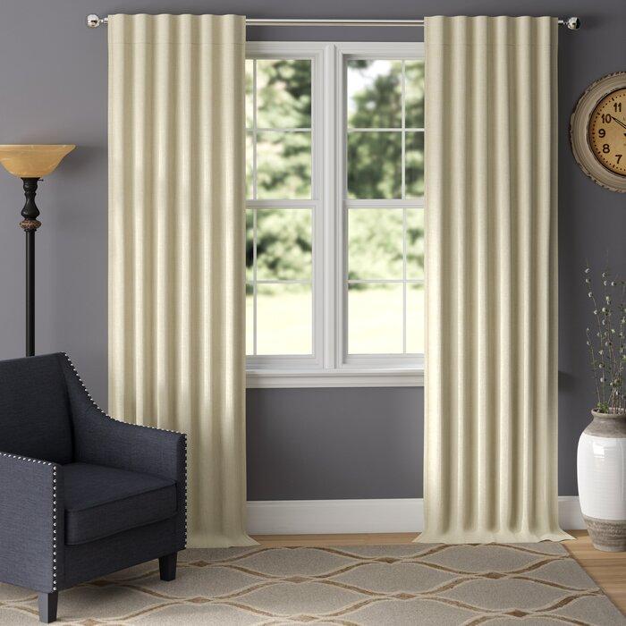 Elder & Ivory Aston Solid Room Darkening Thermal Rod Pocket Curtains