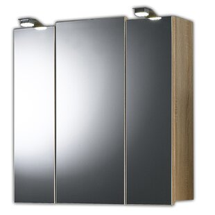 68 X 71cm Surface Mount Mirror Cabinet With LED By Belfry Bathroom