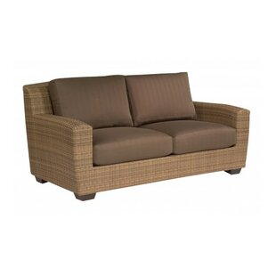Saddleback Loveseat With Cushions by Woodard Find