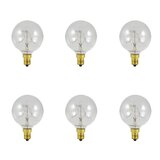 5W E12 Dimmable Incandescent Globe Light Bulb (Set of 6) byBulbrite Industries