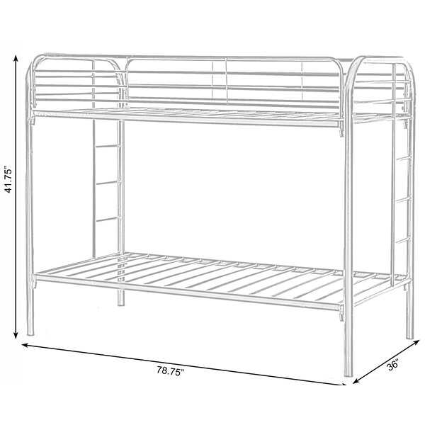 Isabelle Max Westlund Metal Twin Over Twin Over Twin Bunk Bed Wayfair