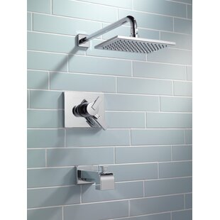 Vero Volume Control Tub and Shower Faucet Trim with Lever Handles and Monitor ByDelta
