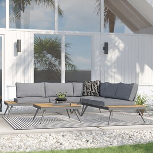 Modern Contemporary 4 Piece Breanna Patio Group Allmodern