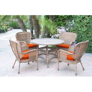 Damarion 5 Piece Dining Set with Cushions