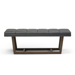 George Oliver Hammock Faux Leather Bench