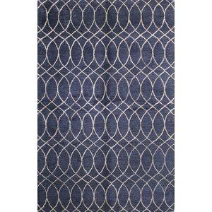 Kheston Hand-Tufted Blue Area Rug