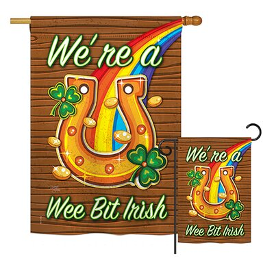 Breeze Decor2 Piece St Patrick S Puppy Spring 2 Sided Polyester 40 X 28 In Flag Set Breeze Decor Dailymail