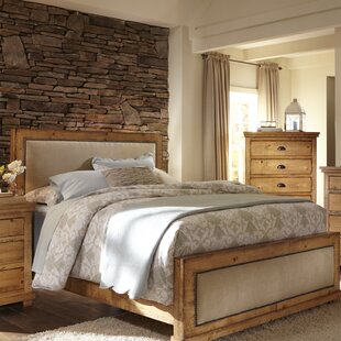 Castagnier Upholstered Panel Bed by Lark Manor