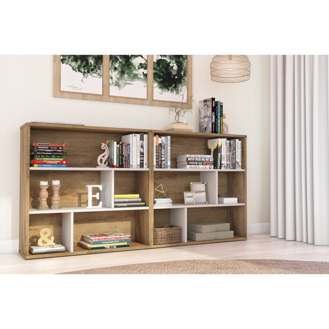 Brayden Studio Mickey Geometric Bookcase Wayfair