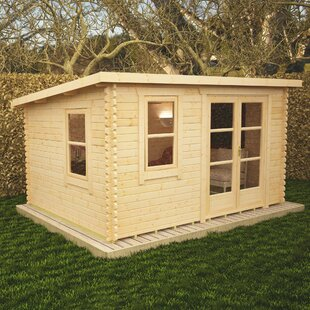 Rho 12 X 8 Ft. Tongue And Groove Log Cabin By Tiger Sheds