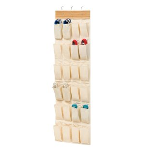 24-Pocket 12 Pair Overdoor Shoe Organizer By Honey Can Do