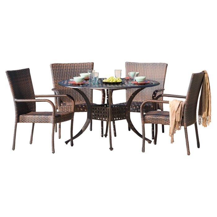 Home Loft Concepts Heidi 5 Piece Dining Set & Reviews | Wayfair