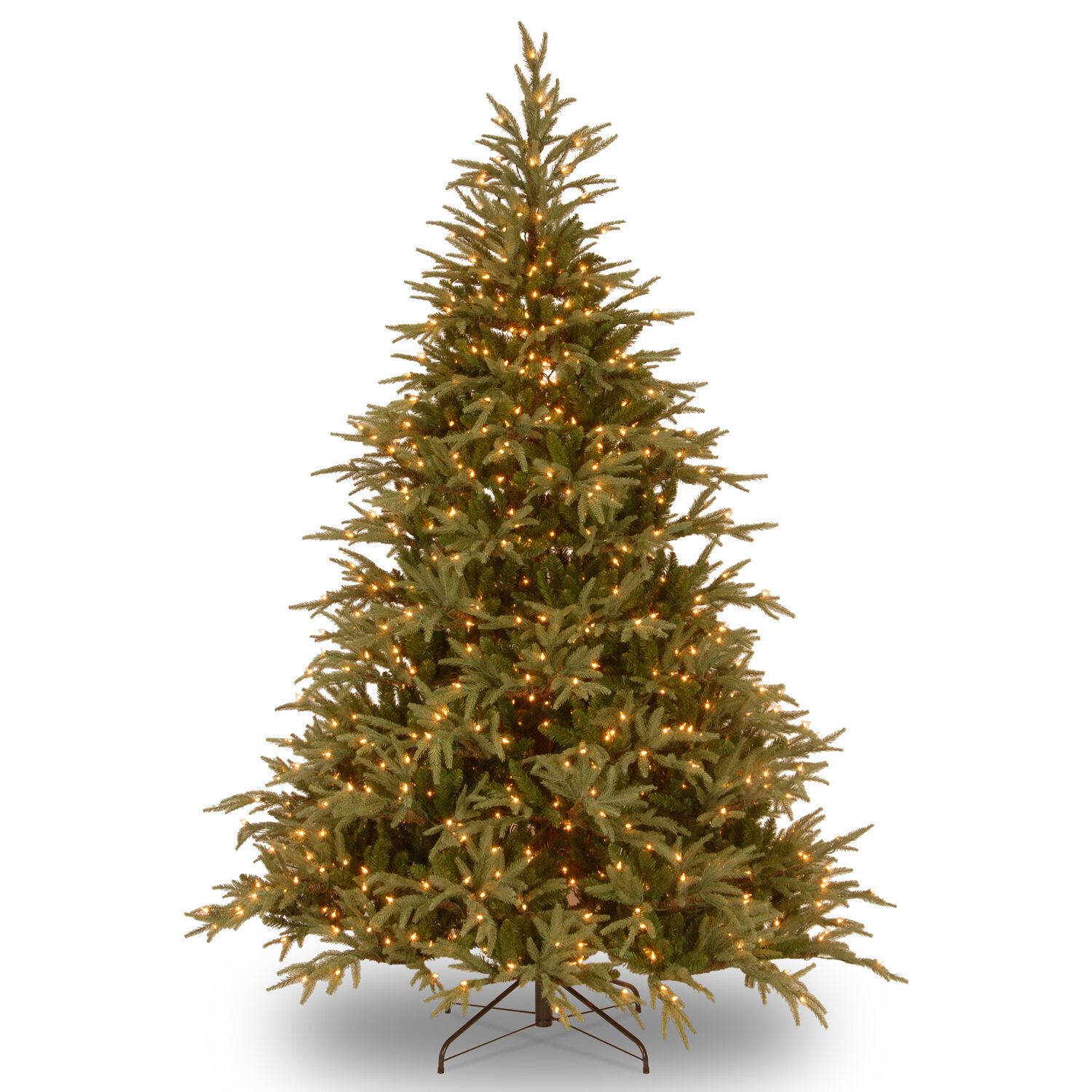 Artificial Christmas Tree Branches.108 Green Fir Artificial Christmas Tree With 1500 Clear White Lights With Stand